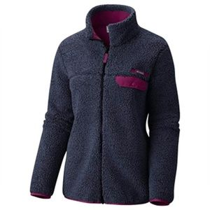 Columbia Navy Mountain Heavyweight Fleece Jacket